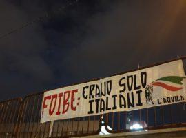 """L'Aquila, Gioventù Nazionale: """"Foibe: erano solo italiani"""""""