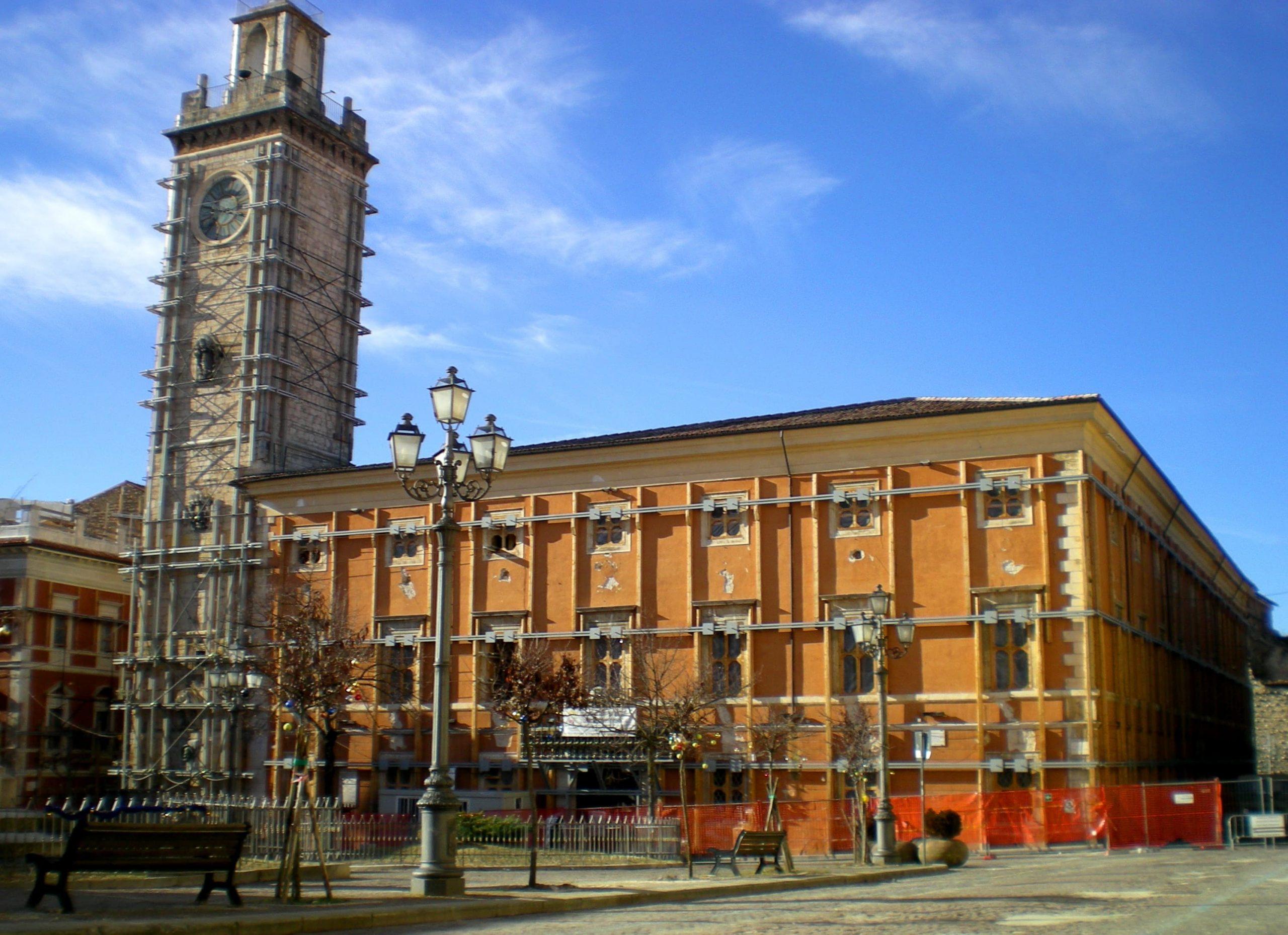 L'Aquila, Palazzo Margherita quasi terminati i lavori di restauro