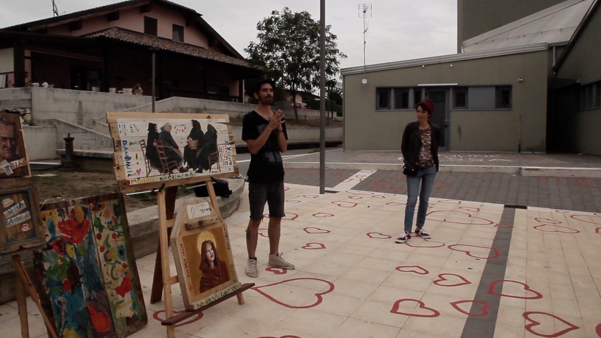 Riabitare con l'arte, murales a Fossa