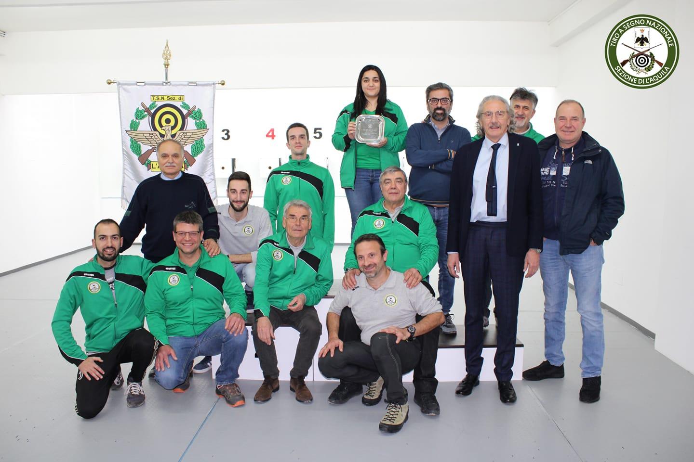Staff e atleti del Tiro a Segno L'Aquila 2021